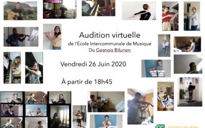École de musique : audition virtuelle ce vendredi